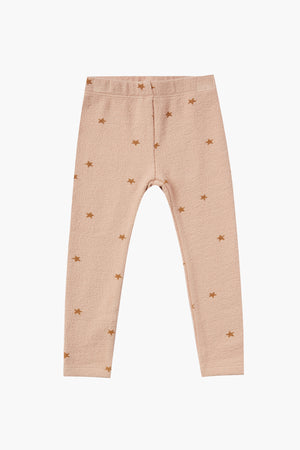 Rylee + Cru Star Knit Girls Legging - Rose