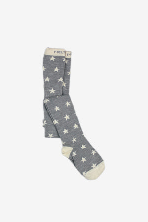 Girls Premium Wool Tights - Star