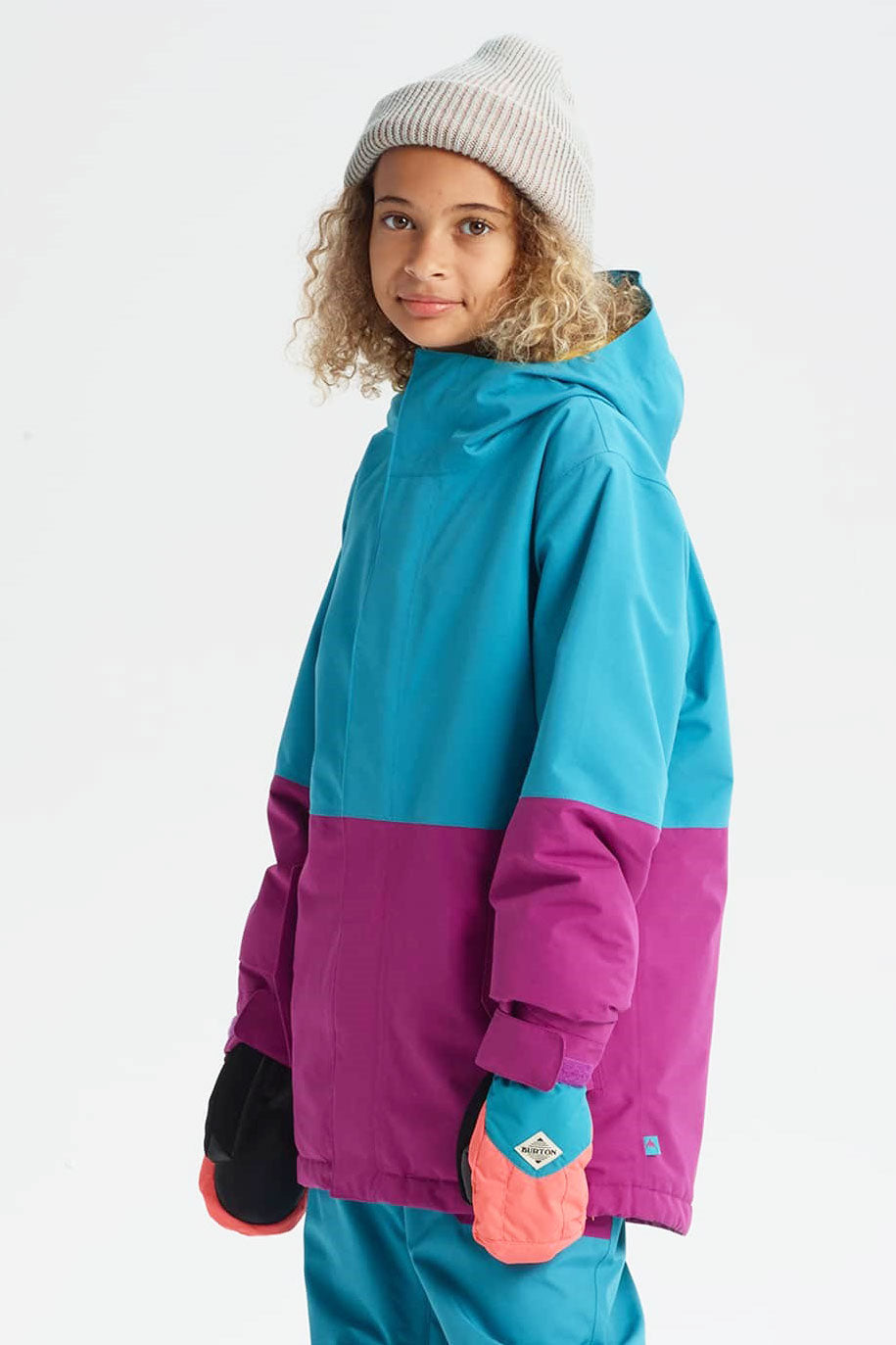 f73da57c73f9 Burton Youth Gore-Tex Stark Jacket - Tahoe Grapeseed - Mini Ruby