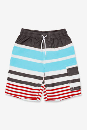 Stripe Board Boys Swim Shorts