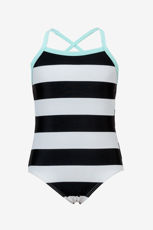 Black White Stripe Swimsuit