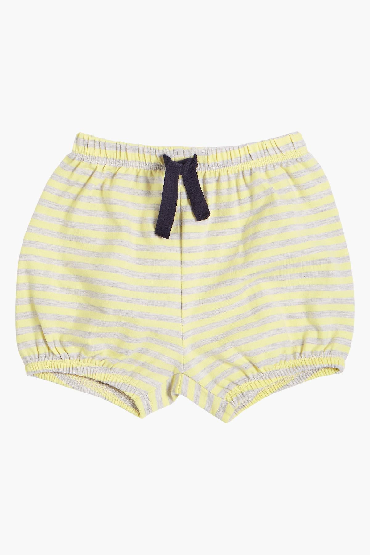 Miles Baby Striped Yellow Baby Short