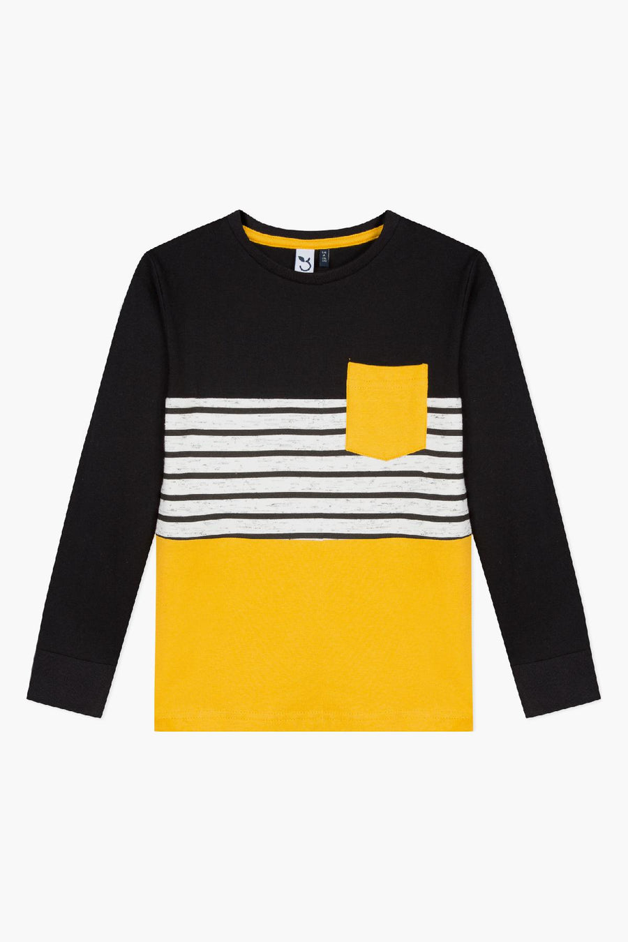 3pommes Striped Yellow Tee
