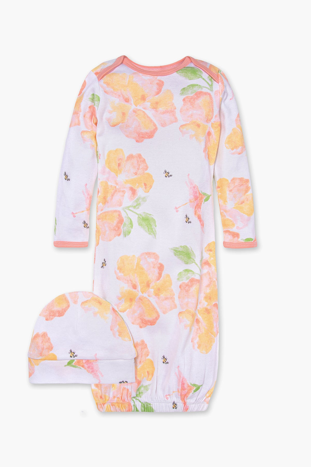Burt's Bees Sunburst Floral Baby Girls Sleep Gown Set