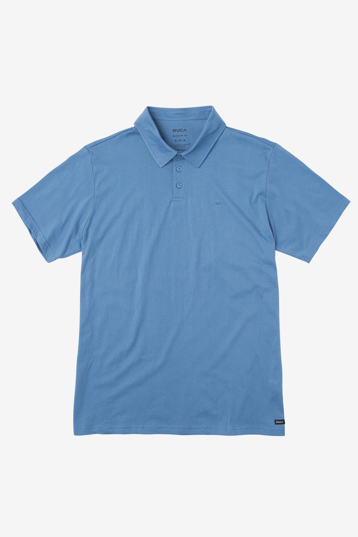 RVCA Sure Thing Boys Polo Shirt - Cobalt