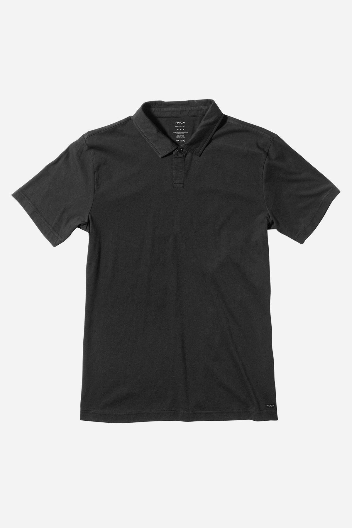 RVCA Sure Thing Boys Polo Shirt - Black