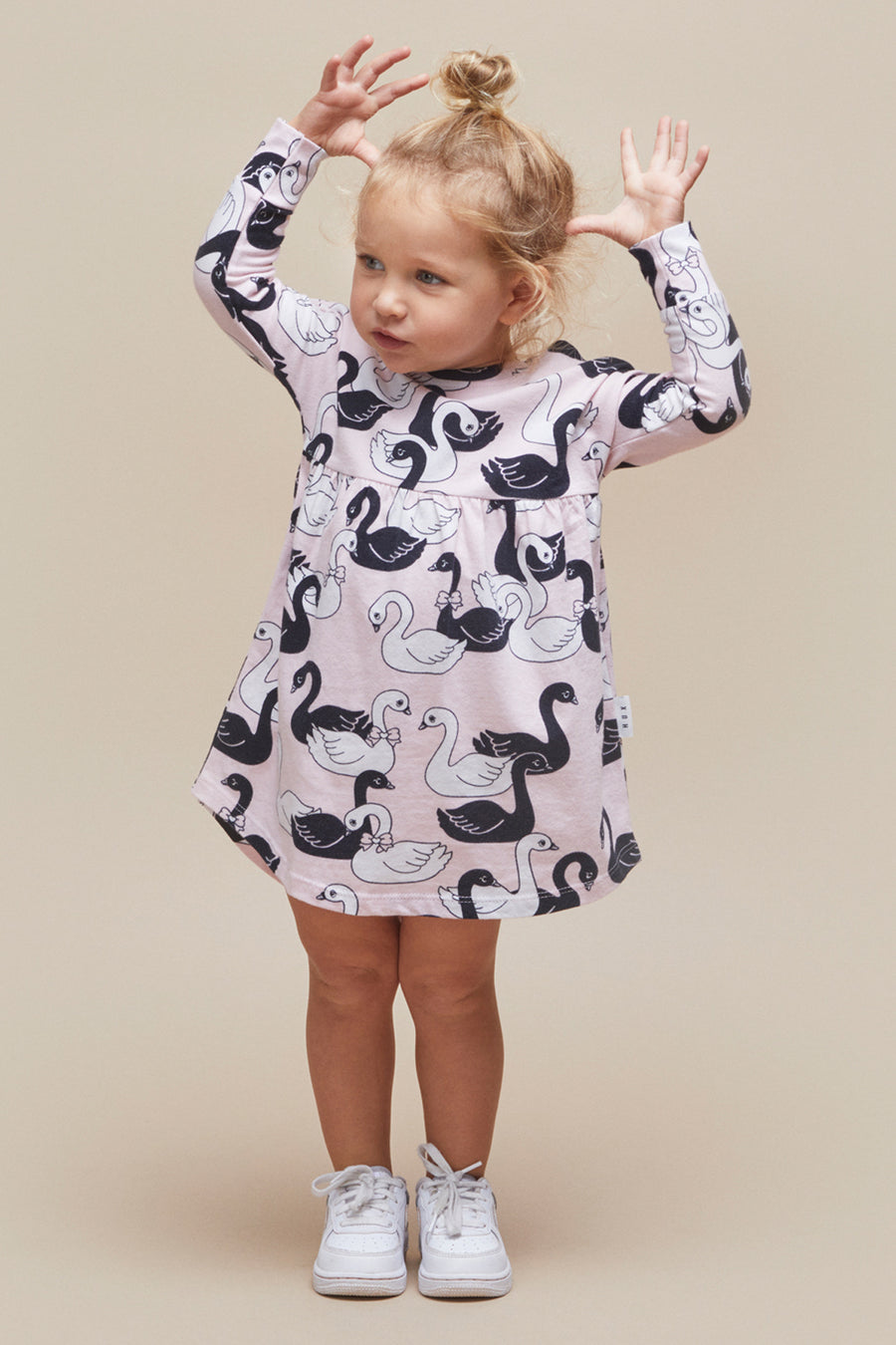 Huxbaby Swan Lake Swirl Girls Dress