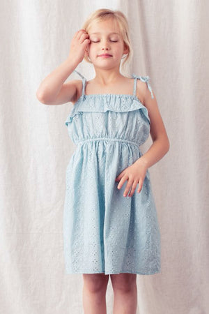 Tocoto Vintage Swiss Embroidered Eyelet Girls Dress