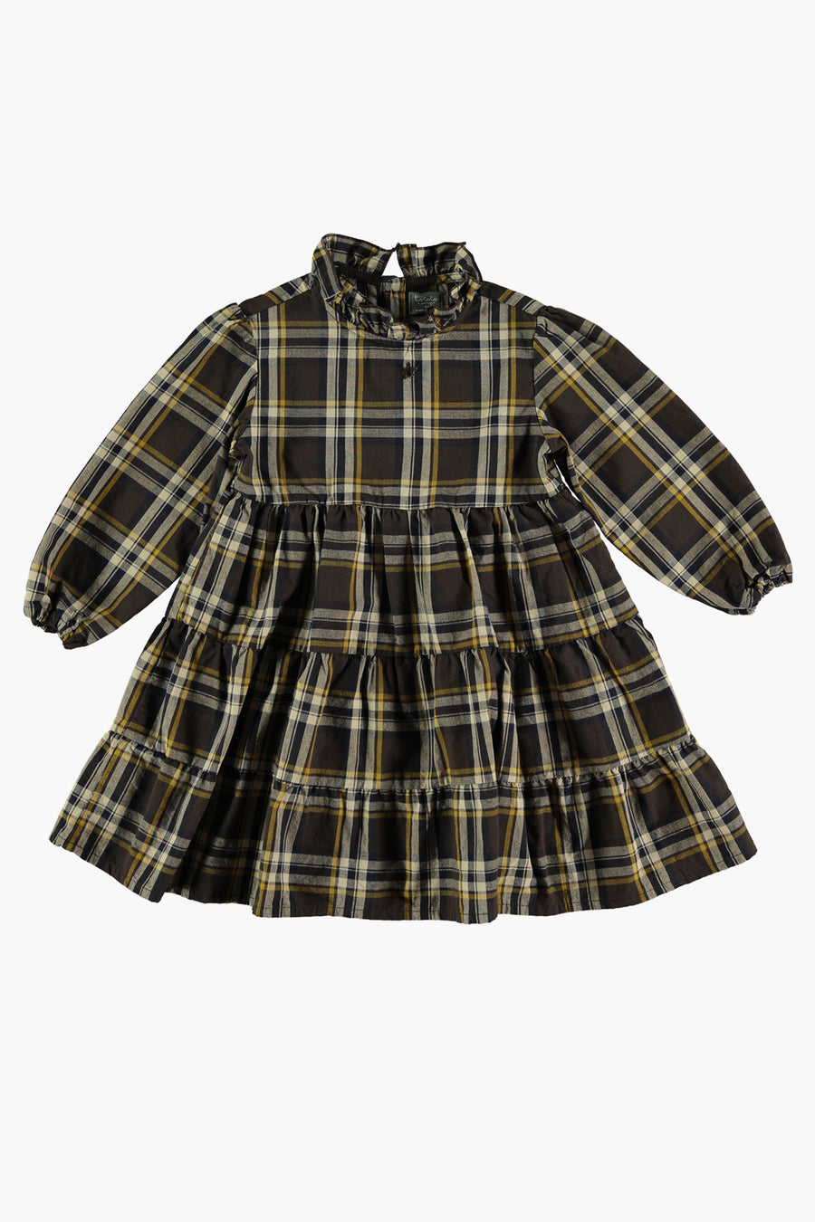 Tocoto Vintage Tartan Plaid Girls Dress