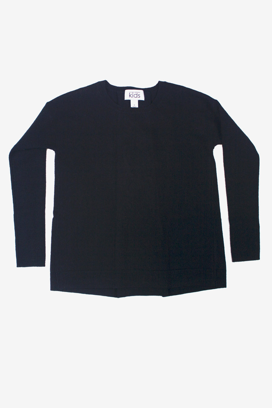 Autumn Cashmere Tie Pleat Back Sweater - Black
