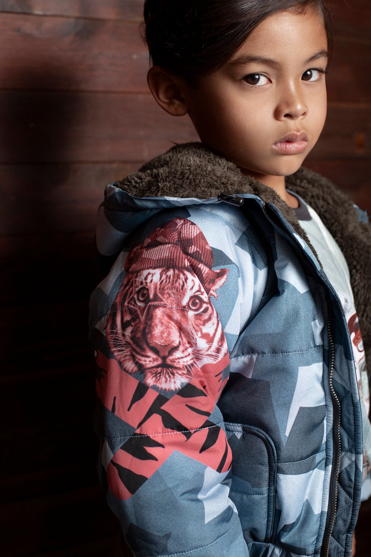 Paper Wings Tiger Camo Puffer Jacket
