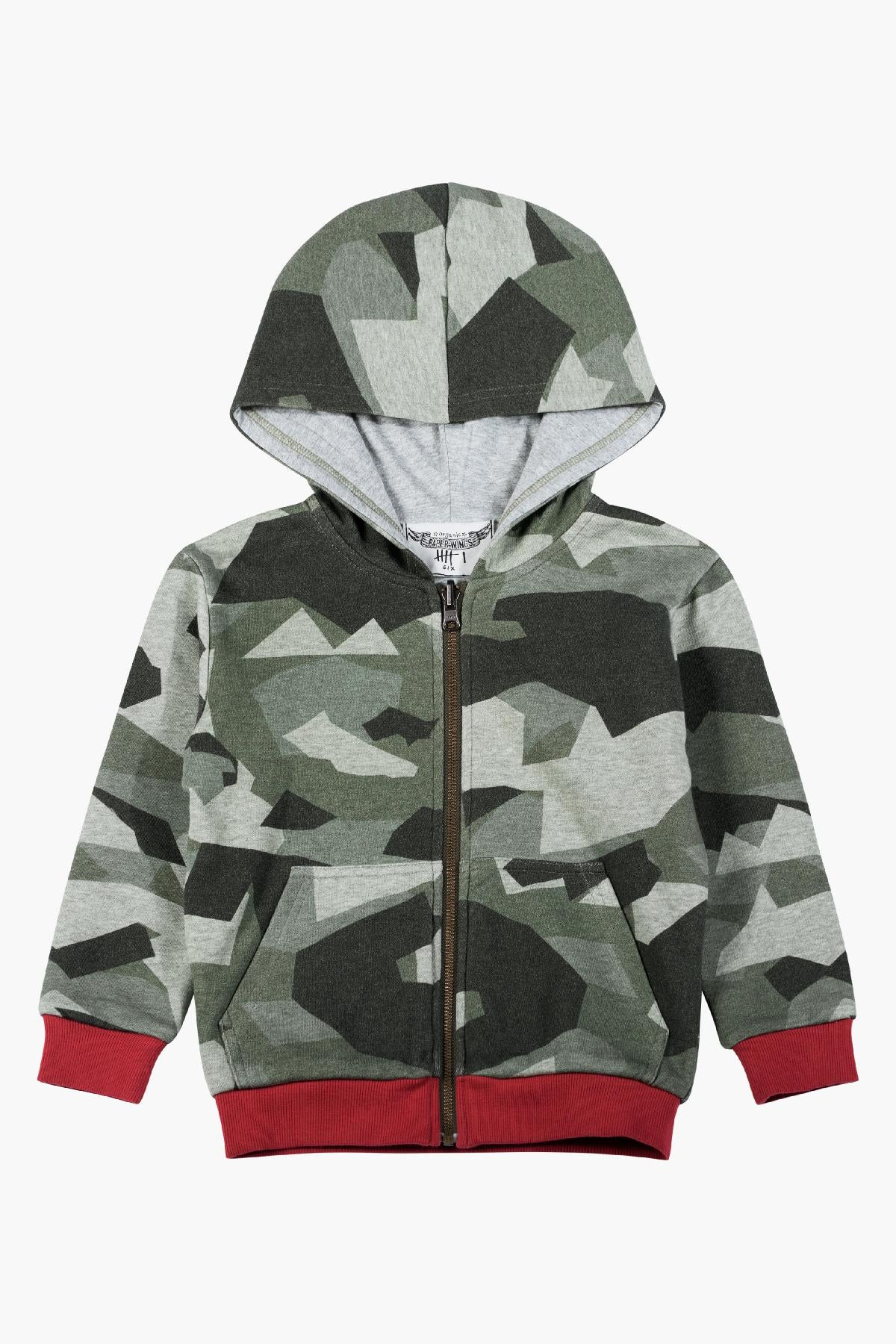 Paper Wings Tiger Camo Reversible Hoodie