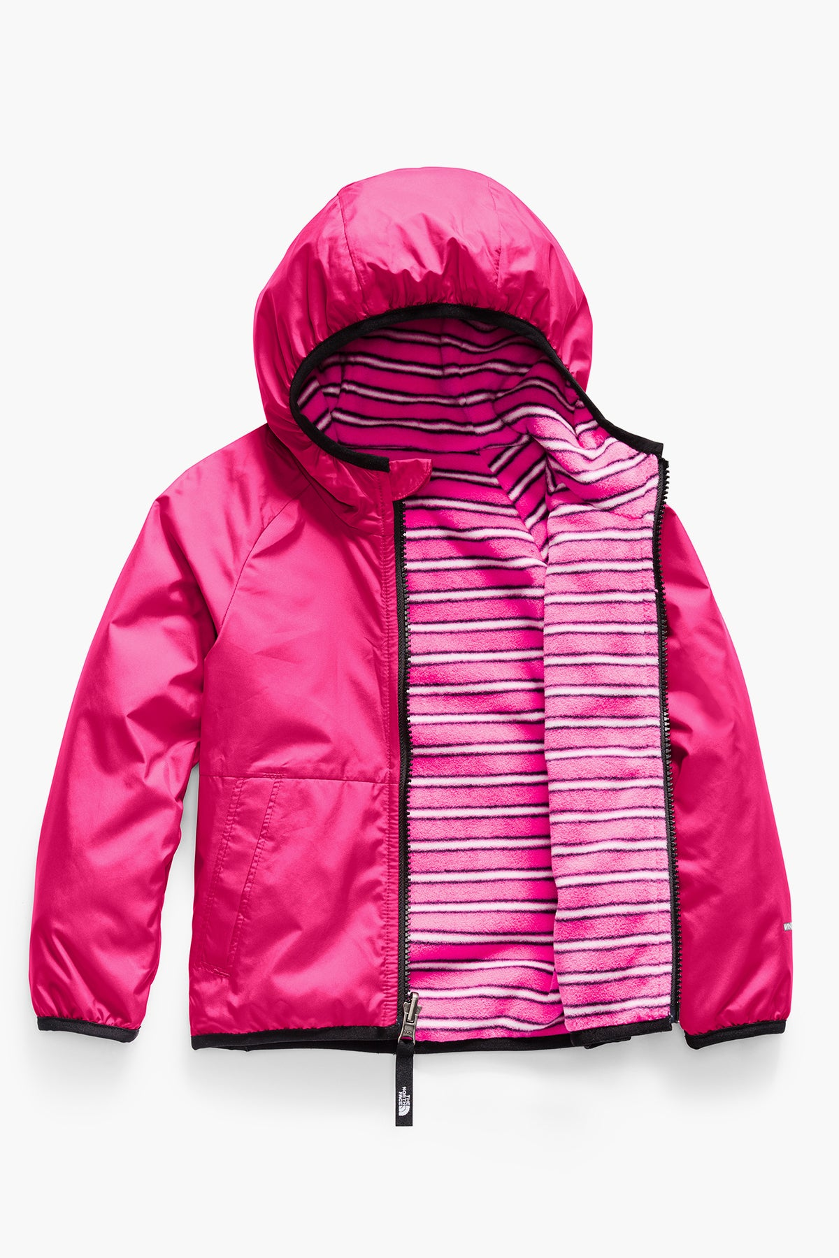 The North Face  Toddler Reversible Breezeway Wind Jacket - Mr. Pink