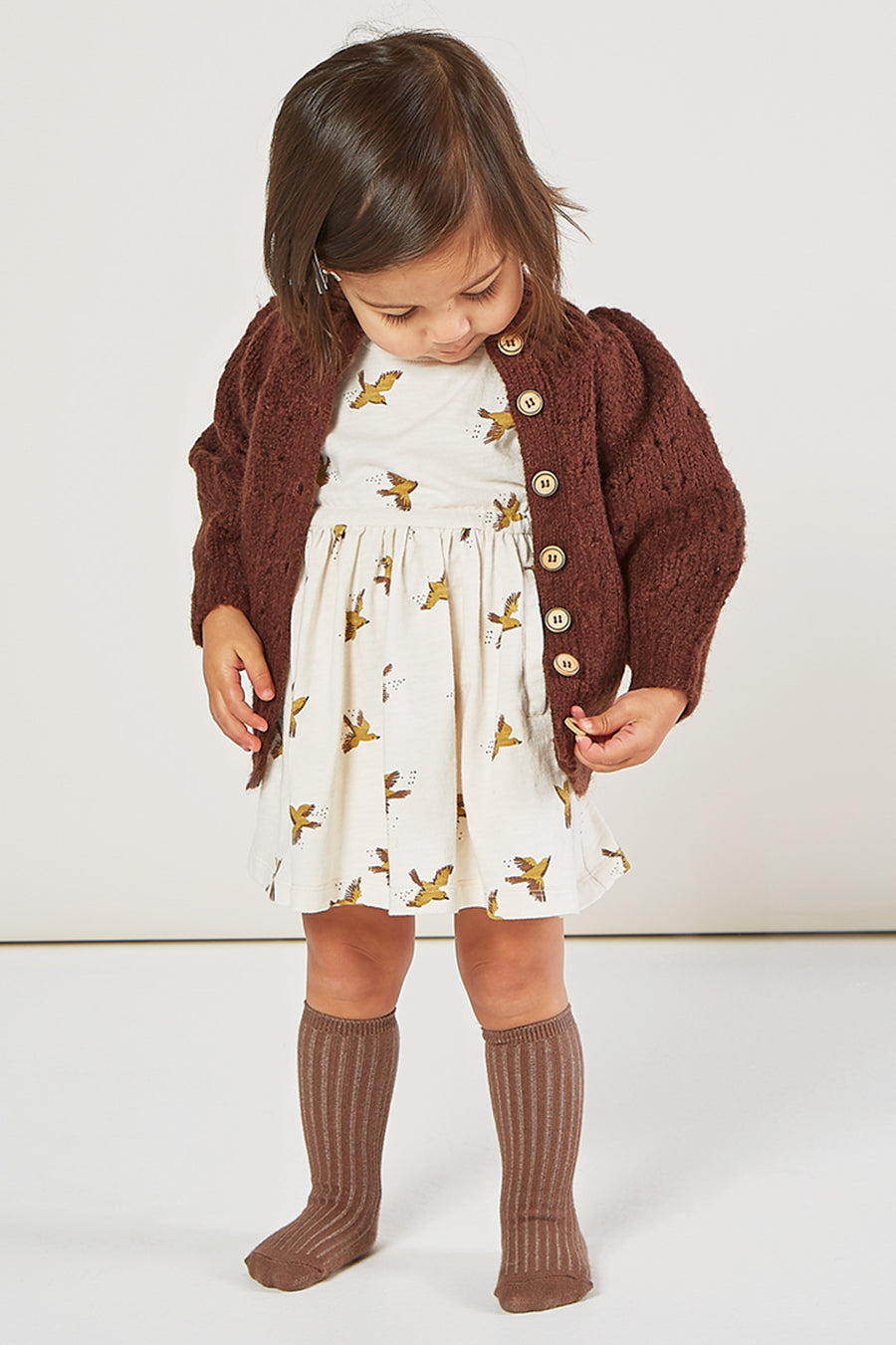 Rylee + Cru Tulip Baby Sweater - Wine