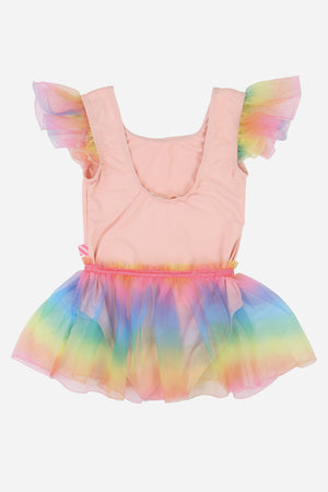 Billieblush Rainbow Ballet Leotard
