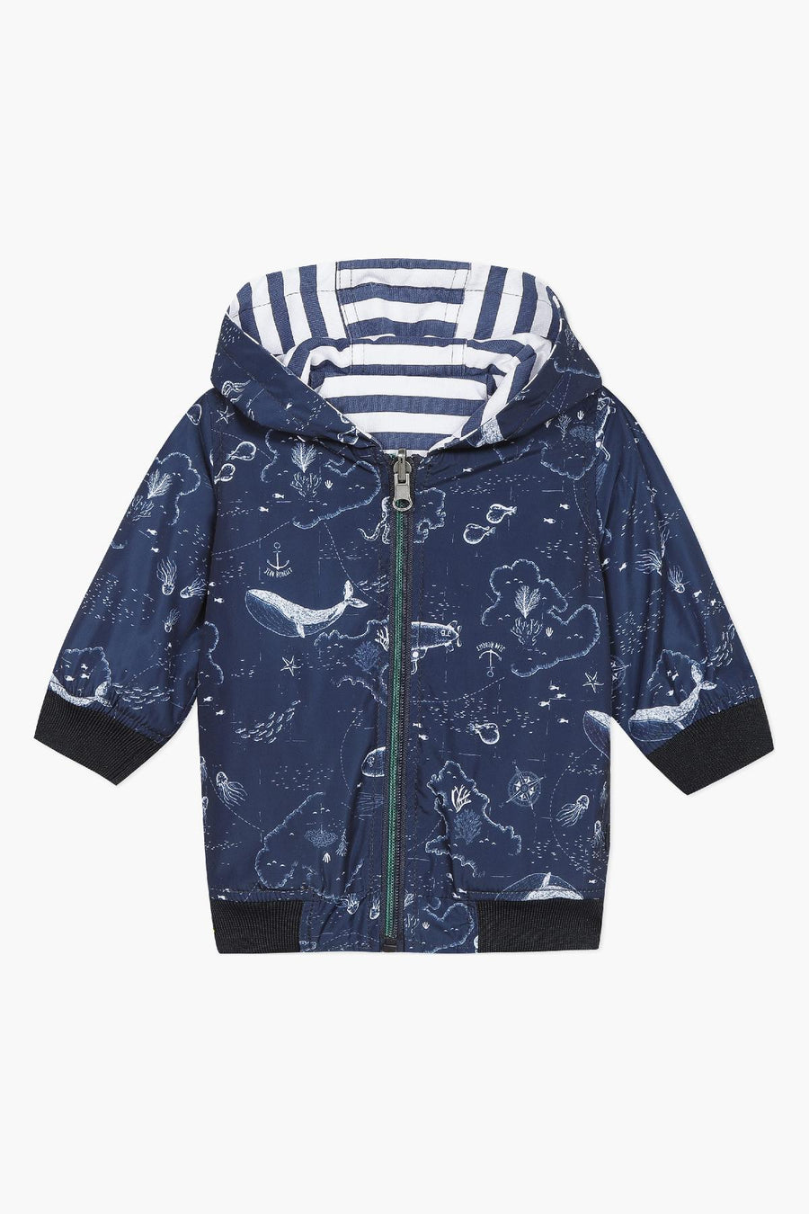 Jean Bourget Under The Sea Reversible Baby Boys Jacket