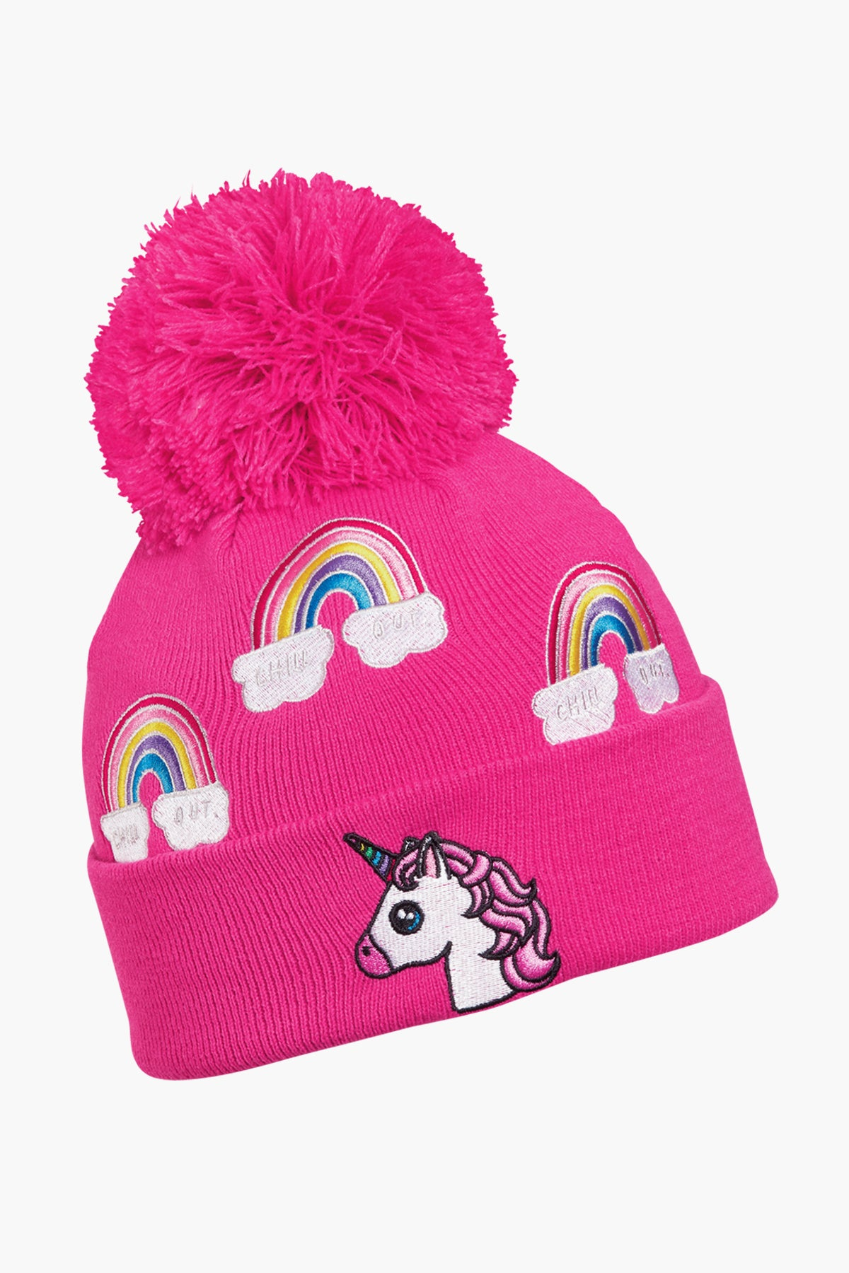 Turtle Fur Unicorn Kids Hat - Pink