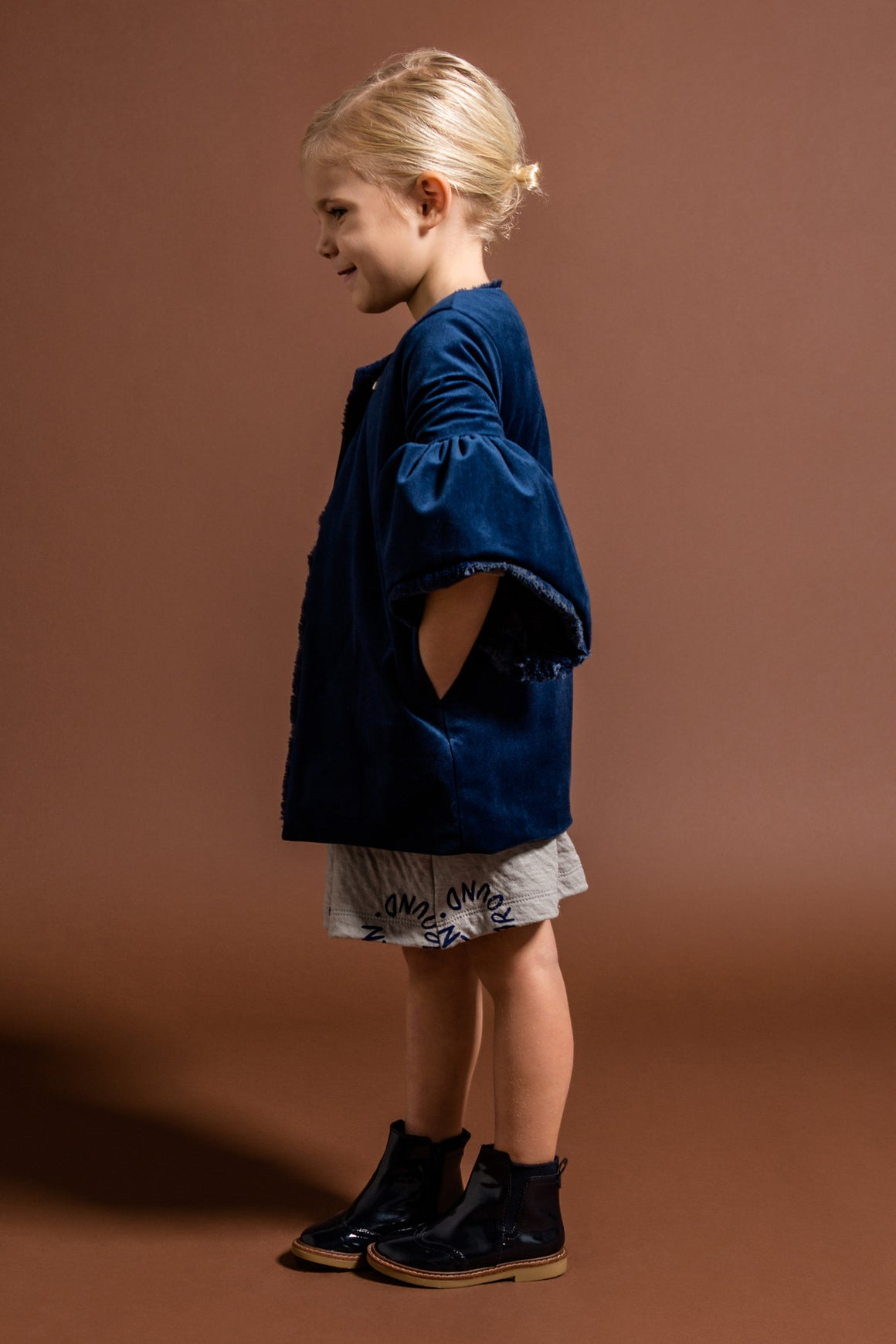 OMAMImini Velvet Coat - Royal Blue