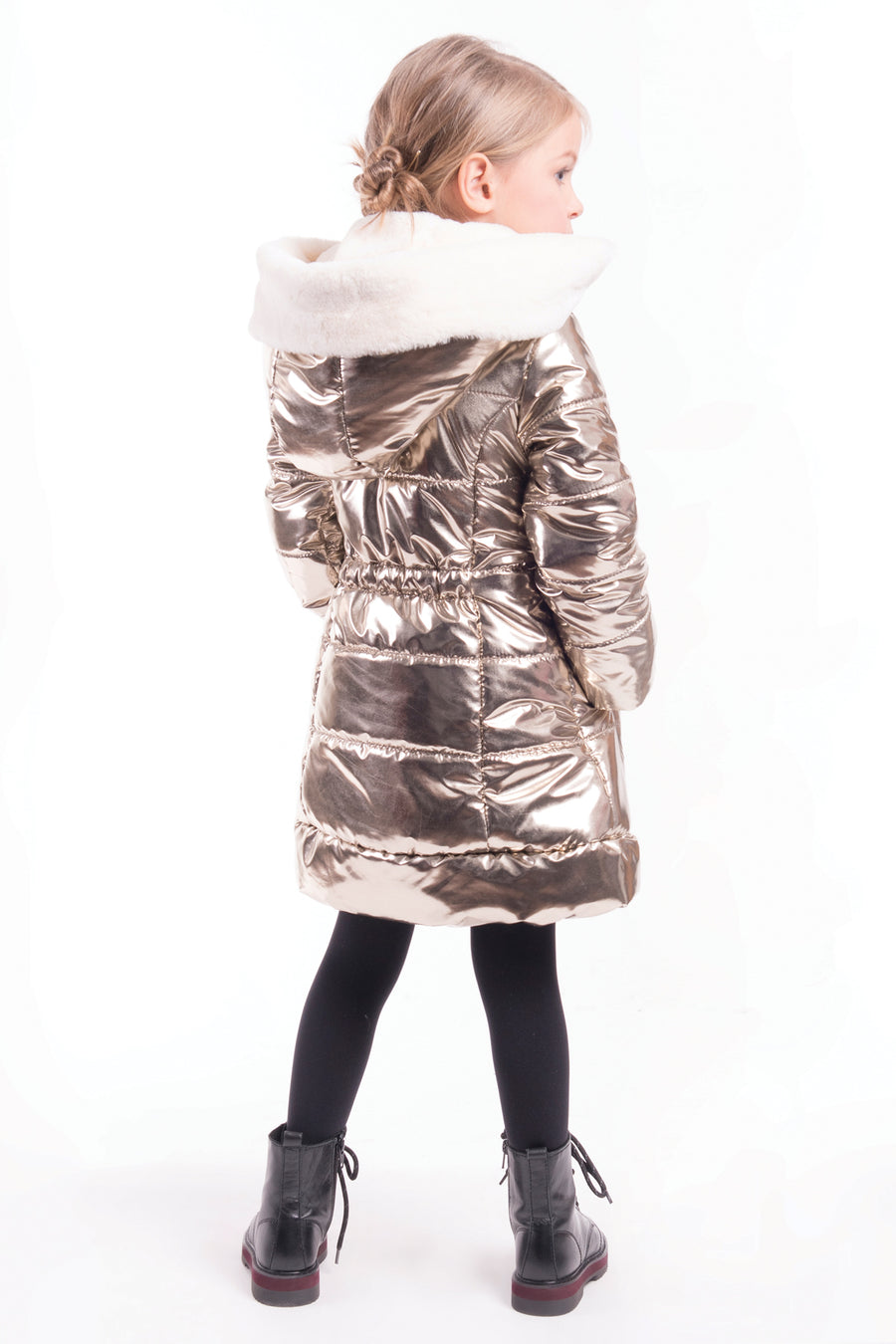 Imoga Vicky Girls Coat - Gold