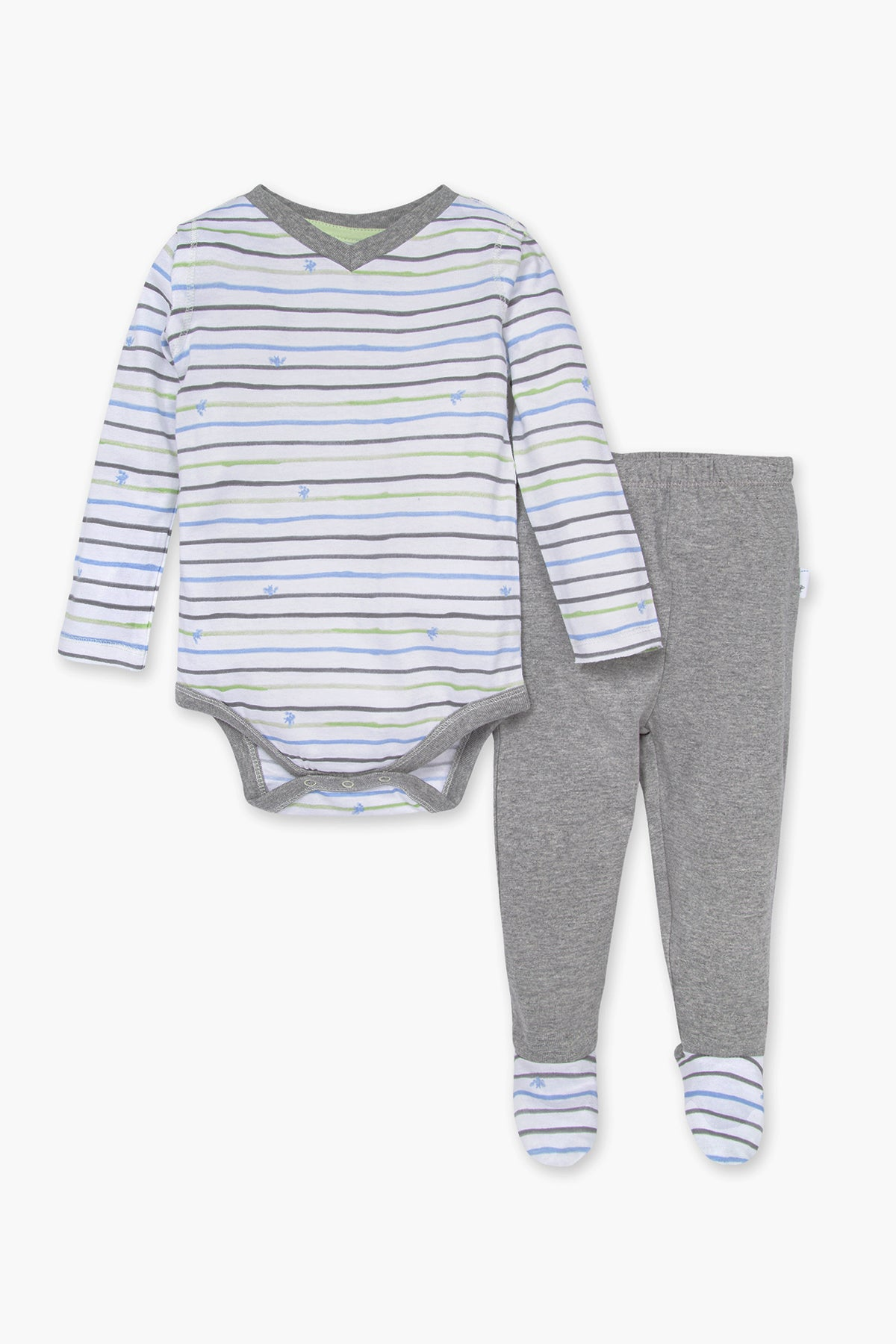 Burt's Bees Watercolor Bee 2-Piece Baby Boys Set