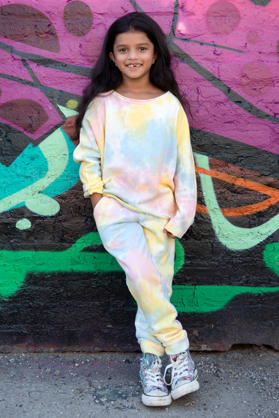 Appaman Watercolor Stanton Girls Sweatpants