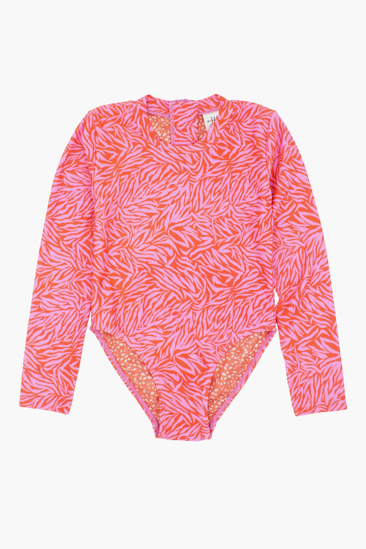 Feather 4 Arrow Wave Chaser Girls Surf Suit - Coral Crush