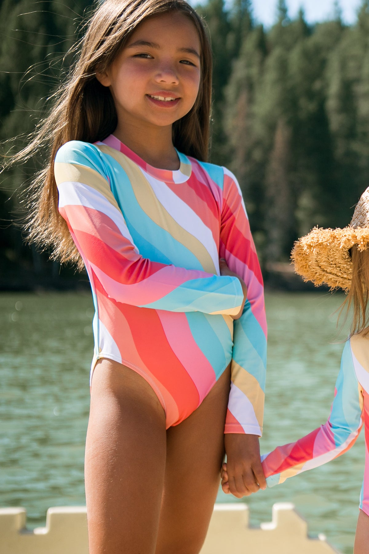 Feather 4 Arrow Wave Chaser Girls Surf Suit - Tropical