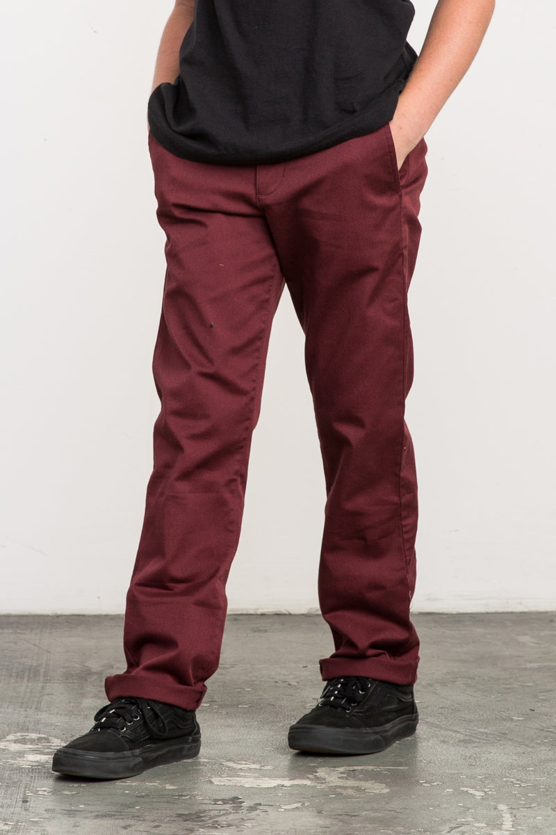 RVCA Weekday Stretch Pant - Bordeaux