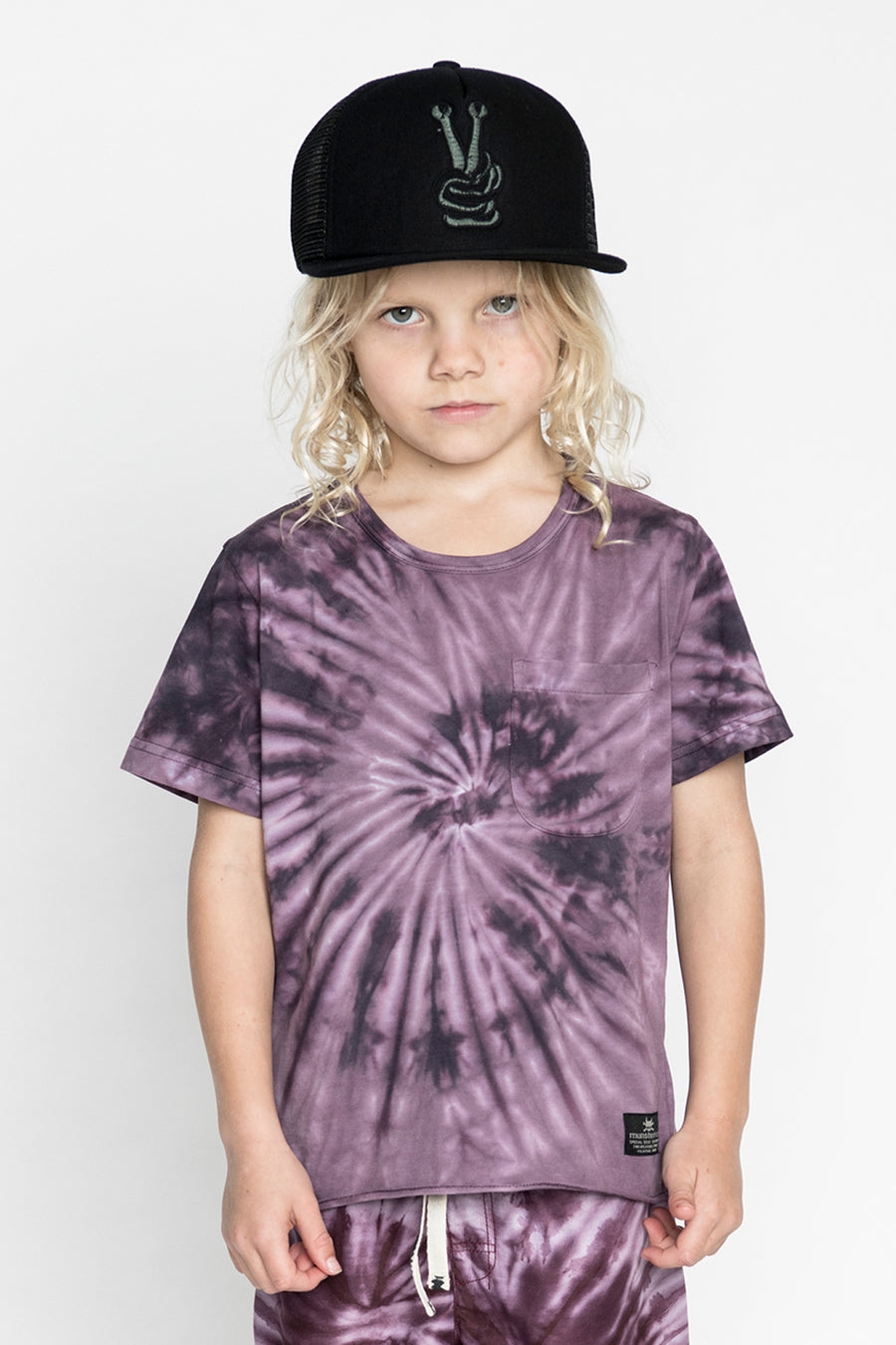 Munster Kids Whirlpool Boys T-Shirt - Purple