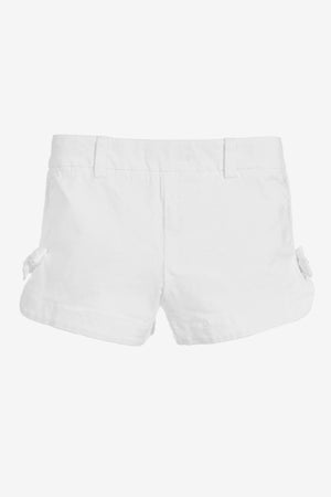 Lili Gaufrette Bow Shorts - White