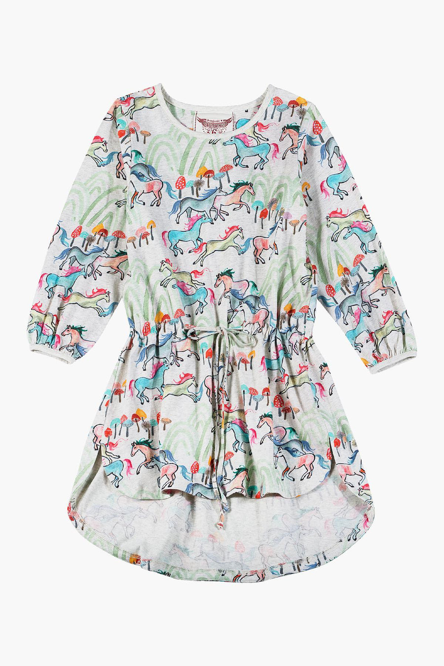 Paper Wings Wild Horses Girls Dress