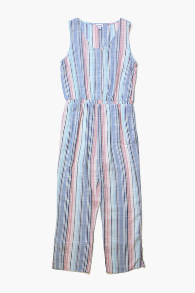 Splendid Woven Stripe Girls Pant Jumpsuit