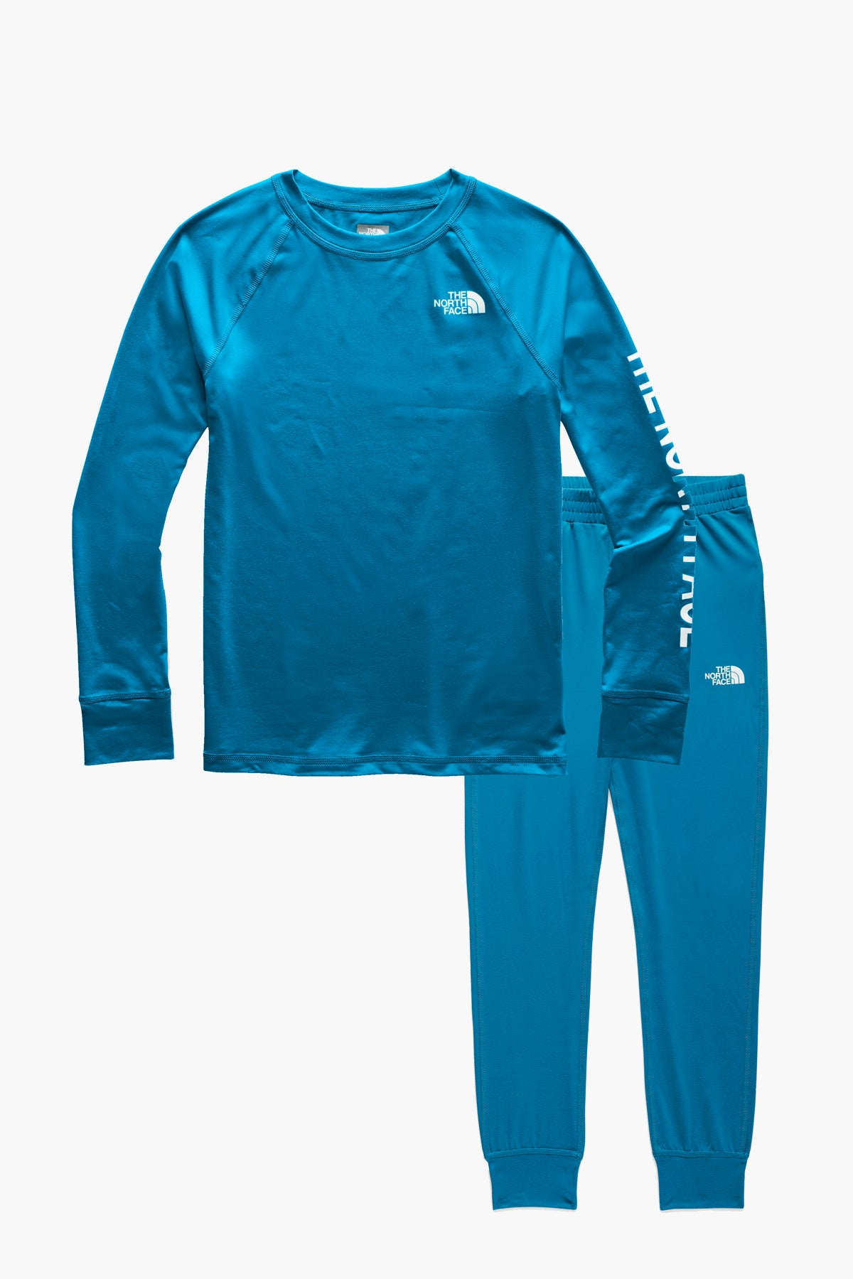The North Face Youth Warm Crew Baselayer Set - Acoustic Blue