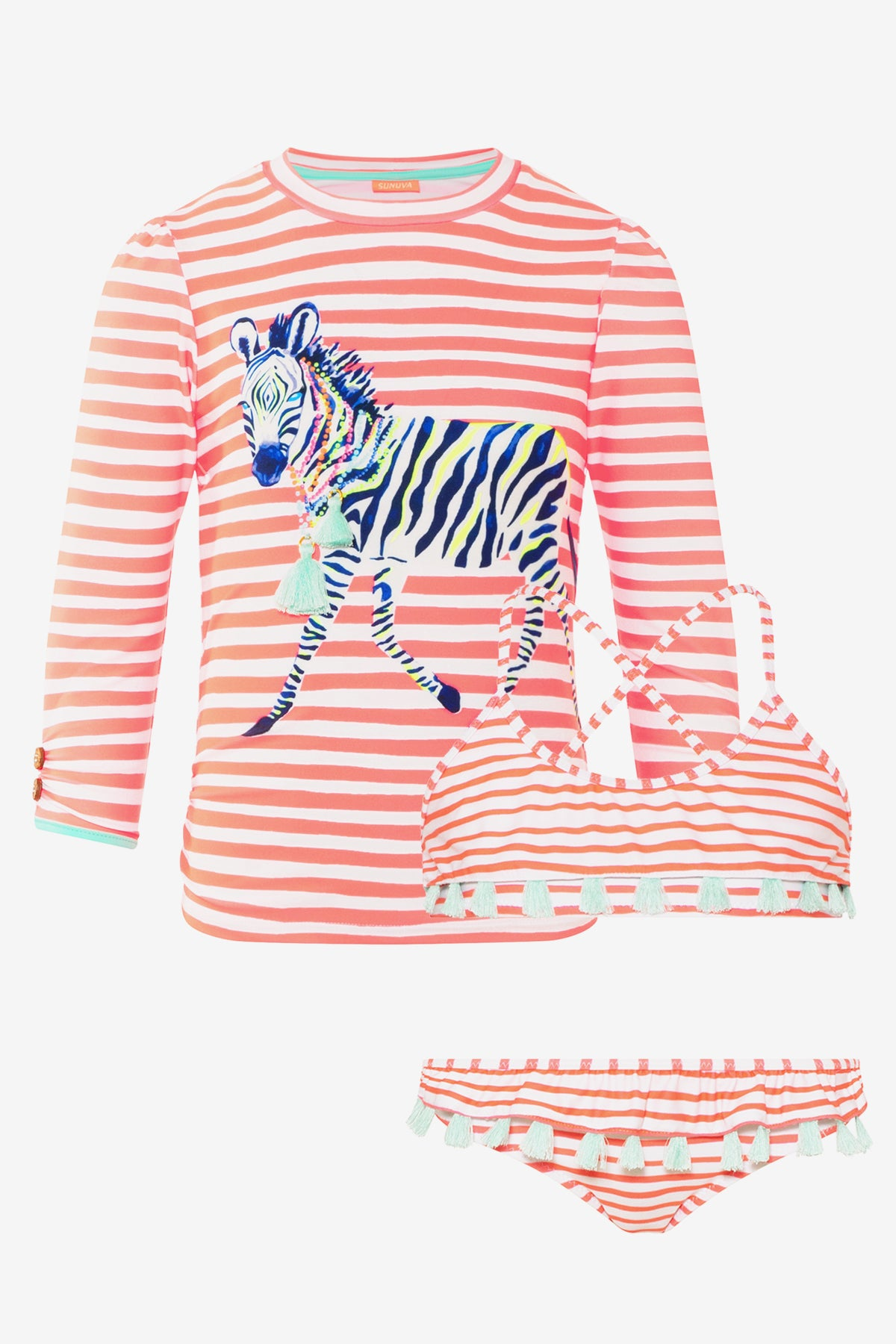 Sunuva Zebra 3-Piece Swim Set