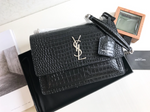Black Croc Crossbody