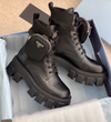 Leather Pocket Combat Boots