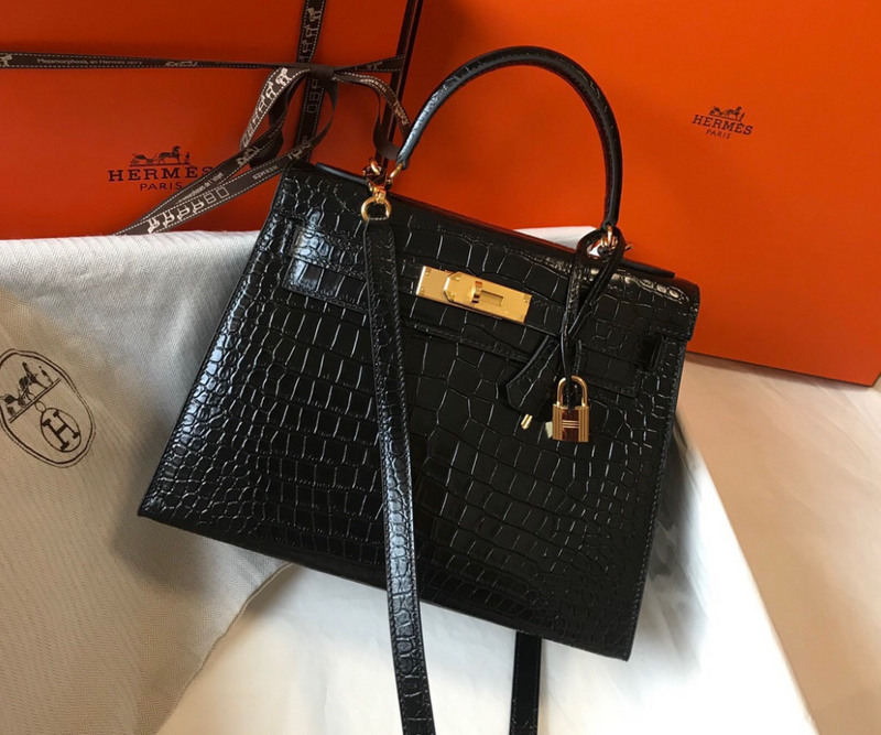Crocodile Kelly Bag