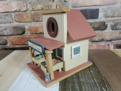 "6.5"" Sonny's General Store Wood Bird House Decor Accent Width: 6.5"" Yard Garden"