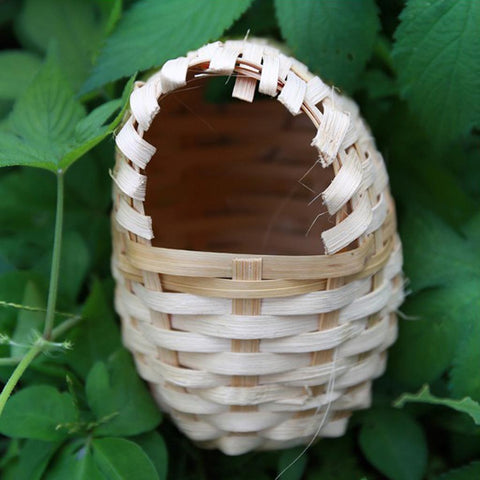 Natural Bamboo Bird Nest Birdhouse Handmade