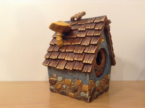 Garden Guardian Birdhouse Department 56 Choice of Green or Brown Roof