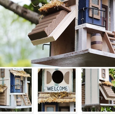 Wooden Birdhouses Nest Naturals Cedar Outdoors Hanging Garden