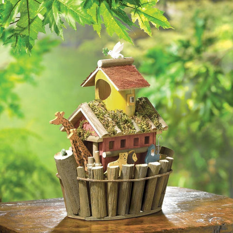 Noah's Ark Wood Birdhouse