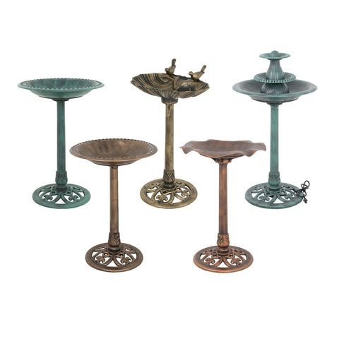 Pedestal Bird Bath Style Antique Bird Bath Feeder