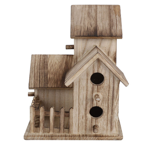 Wooden Wild Bird Nesting Birdhouse Box Outdoor Wooden Box House