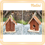 Preservative Wooden Decorative Birdhouse Hanging Nest Creative Decor Gifts