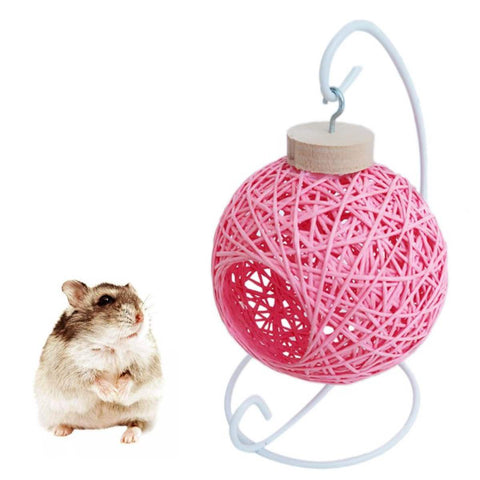 Hamster Hanging Cradle Bird Cage House Rattan Hammock Sleep Bed Hide Play Toys
