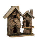 High quality custom natural outdoor house wooden bird feeder