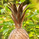 Pineapple Shaped Copper Birdhouse Stake
