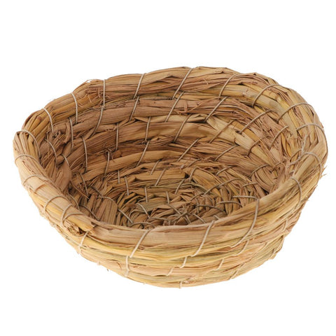 3 Pieces Handmade Woven Straw Bird Nest Cage Birdhouse/Bed House