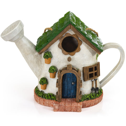 VP Home Vintage Watering Can Decorative Hand-Painted Birdhouse